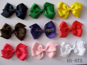 Infant Baby Hair Bows , Hair Clip, Basic Bow, Grossgrain Ribbon Bow (HS-075)