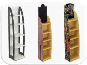 Wooden Literature Brochure Free Standing Display Rack pictures & photos