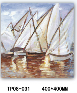 Hand Brush Stroke Canvas Oil Painting - Sea Sailing Vessel (TP08-031)
