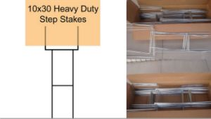 Heavy Duty Step Stakes for Lawn Sign Frame pictures & photos