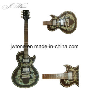 Real Abalone Inlay on Body Top Quality Electric Guitar pictures & photos