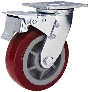 Double Ball Bearing Heavy PVC Caster Wheel for Trolley (HE-A-200-QBC)