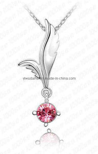 Fashion Angel Wing Alloy Crystal Necklace (1105954)