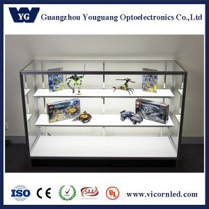 Double side economic LED Display Cabinet-DISCA pictures & photos