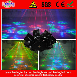 8 Claw Rgbyw LED and Fat-Beam Stage Laser Light pictures & photos