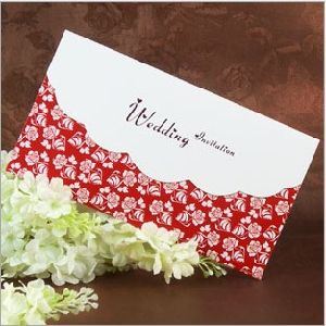 Red Rose Wedding Invitations Cards