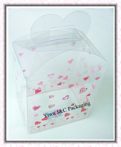 PVC Gift Packaging Boxes With Heart Hanger (JCP-255)