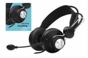 PC Headset with On-Ear Volume Control