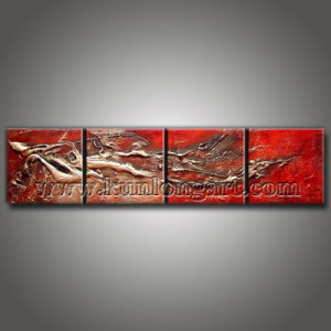 Textured Modern Abstract Canvas Painting for House Decoration (KLMA4-0008)
