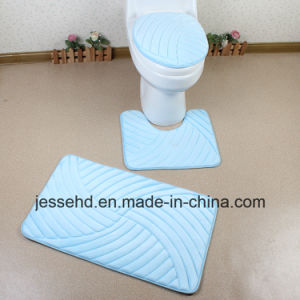 Waterproof and Anti-Slip Bath Mat 3PCS Bathroom Rug Set pictures & photos