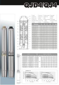 Submersible Deep Well Pump with CE and UL (QJD4 Series) pictures & photos