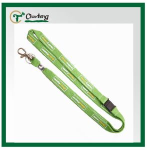 Green Tubular Lanyard With Breakaway Slip