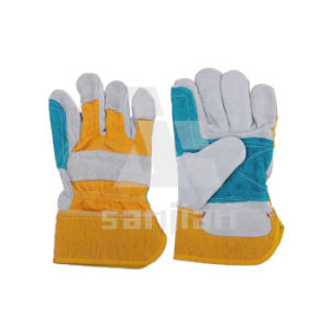 Ab/Bc Grade Leather Work Industrial Glove Cowhide Cowgrain Cow Furniture CE Approved pictures & photos