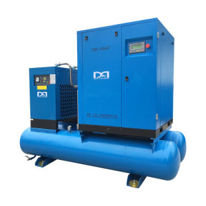 8bar Industrial Electric Rotary Screw Air Compressor with Air Dryer pictures & photos