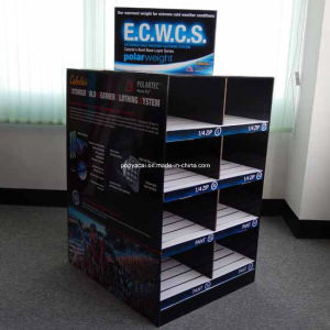 Full Color Printed 2-Sided Cardboard Pallet Display with Slots for Garments pictures & photos