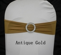 Spandex Bands With Buckle Antique Gold