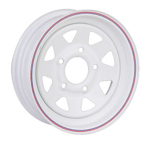 8 Spoke Hourse and Boat Trailer White Steel Wheel Rim pictures & photos