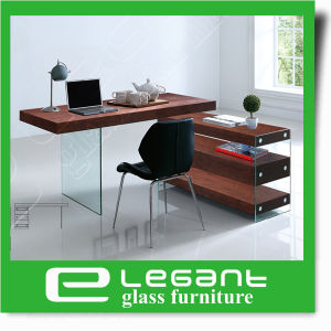 Clear Bent Glass Office Desk pictures & photos