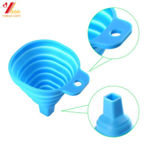 FDA Food Grade Silicone Foldable Lid Funnel. Collopsible Funnel pictures & photos