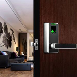 Zinc Alloy American Standard Smart Keyless Fingerprint Door Lock with Switch Handle pictures & photos