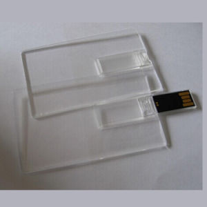 8GB 16GB Best Promotional Credit Card Memory Transparent Card Drive (TF-0421) pictures & photos
