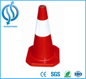 500*350*350mm Rubber Road Traffic Cone pictures & photos
