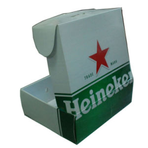 Factory Price Corrugated Cardboard Paper Box with Plastic Handle pictures & photos