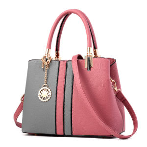 European and American Fashion Ladies Bag Hit Color Package Ladies Handbag pictures & photos