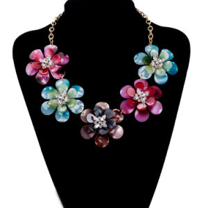 Handmade Multicolor Flower Pendant Necklace Fashion Jewelry pictures & photos