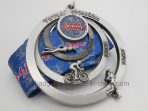 Stamping Logo Hollow Antique Silver Plated Medal (GZHY-MB-005) pictures & photos