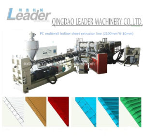 PC Polycarbonate Sheet Hollow Structure Sheet/Board Extruder Extrusion Line pictures & photos