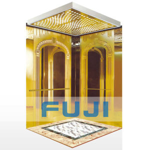 Passenger Elevator Lift with Titanium Gold Stainless Steel pictures & photos