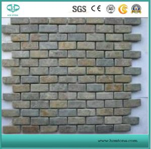 Green/Yellow/Black/Roofing/Slate/Natural/Culture Stone/Rustic Slate/Natural Slate/Flagstone for Wall Cladding/Tile pictures & photos