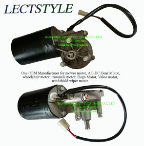 24V 80W 30-45rpm Two-Speed Windshield Wiper Worm Gear Motor with Doga Voleo Bosch Type pictures & photos