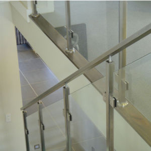 Most Safety 16mm Thickness Balcony Glass Railing with Stainless Steel Glass Clamps pictures & photos