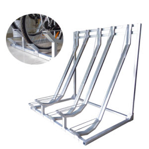 Outdoor Galvanized Semi Vertical Bicycle Rack pictures & photos