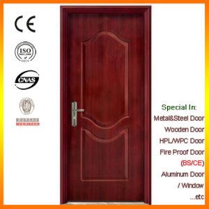 Black Walnut Veneer Steel Door with Fireproof Board pictures & photos