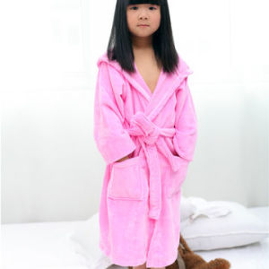 Hooded Cotton Terry Baby Bathrobe / Pajama / Nightwear / Sleepwear pictures & photos