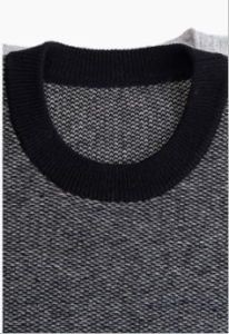 Men′s Crew Neck 100% Top Grade Pure Cashmere Sweater with Patterns pictures & photos