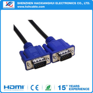 High Display Rate Male to Male VGA Cable Manufacturer pictures & photos
