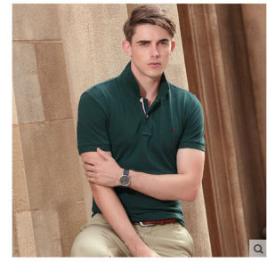 Men′s 100%Cotton Striped Classic Polo T Shirt Clothing Hot Sale pictures & photos
