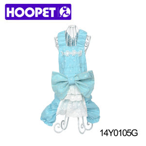 White Dots Blue Dress for Dog and Pet Trendy Apparel