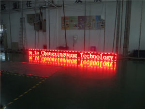 P10 Monochrome Red Semi-Outdoor Running LED Sign Board pictures & photos
