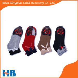 Hot Selling Custom Cotton Socks for Girl with Bowknot