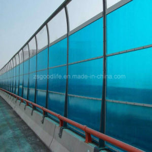 Both Sides UV Protection Polycarbonate Sheet for Sound Barrier for High Speed Way pictures & photos