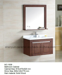 Bathroom Furniture Bathroom Cabinet with Ceramic Wash Basin (MC-1009) pictures & photos