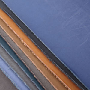 Brush PU Leather with Flocking Backing for Shoes (BBC109-XXE) pictures & photos