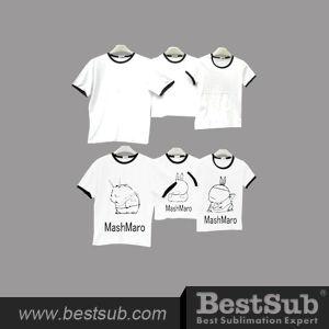 Bestsub Promotional Sublimation Printing Parent-Child Family Dress T-Shirt (JA1001W) pictures & photos