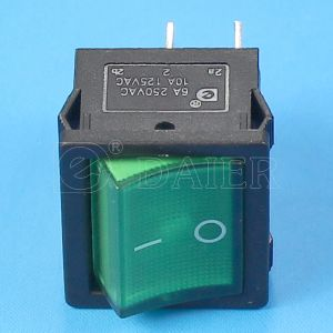 6A 220V on off Lighted Rocker Switch pictures & photos