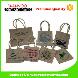 Various Design Jute Fabric Bag for Promotion pictures & photos